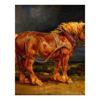 aceite de las pinturas de los caballos membretes personalizados