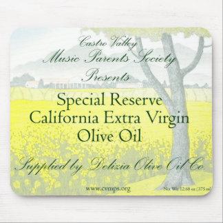 Aceite de oliva adicional de la Virgen de la etiqu Mousepads
