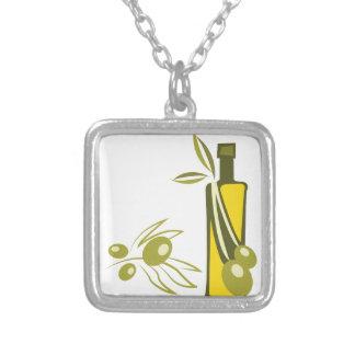 Aceite de oliva colgante cuadrado