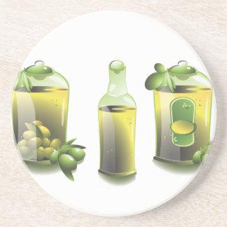 Aceite de oliva EVOO para los cocineros Posavasos Personalizados