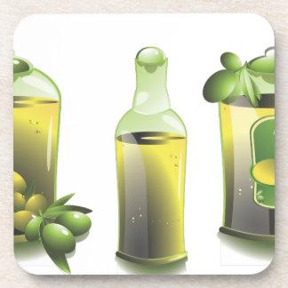 Aceite de oliva EVOO para los cocineros Posavaso