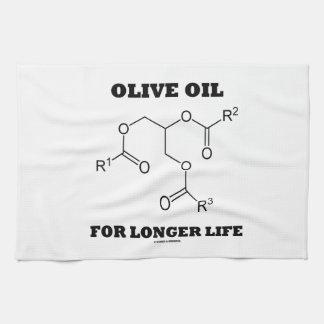 Aceite de oliva para una vida más larga (molécula) toalla de mano