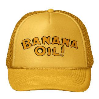 Aceite de plátano gorros bordados