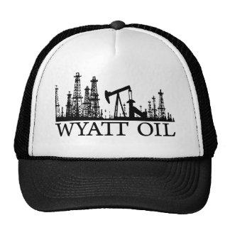 Aceite de Wyatt/logotipo negro Gorro De Camionero