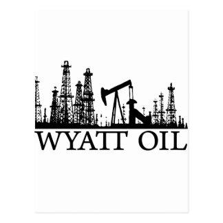 Aceite de Wyatt/logotipo negro Tarjeta Postal