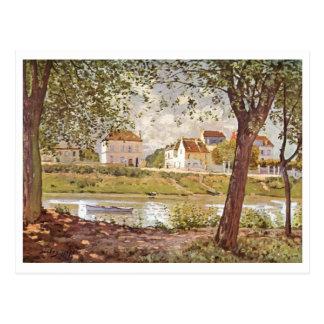 Aceite del Sena 1872 del der de Alfred Sisley - de Postal