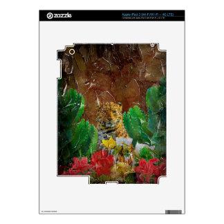 Aceite floral de la paleta del tigre hermoso iPad 3 skin