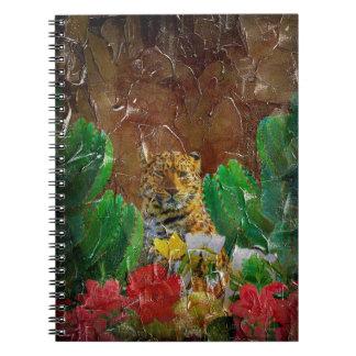 Aceite floral de la paleta del tigre hermoso spiral notebook
