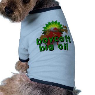 Aceite grande del boicoteo para terminar las camis ropa para mascota