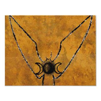 aceite invertido de levantamiento de la diosa invitación 10,8 x 13,9 cm
