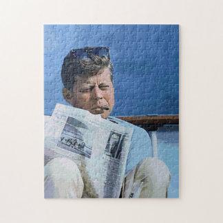 Aceite John F. Kennedy de pintura en colores paste Puzzle Con Fotos
