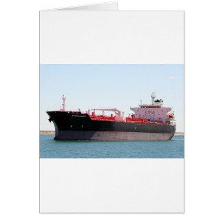 Aceite/nave de petrolero química 2 tarjeta de felicitación