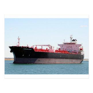 Aceite/nave de petrolero química 2 tarjeta postal