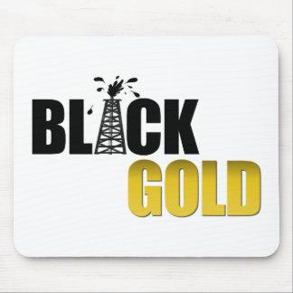 Aceite negro del oro alfombrilla de raton