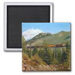 Aceite Paintin del paisaje del ferrocarril de Geor Imán Para Frigorifico