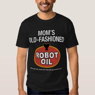 aceite pasado de moda del robot de la mamá playera