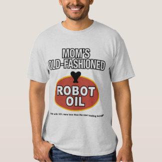 aceite pasado de moda del robot de la mamá playeras