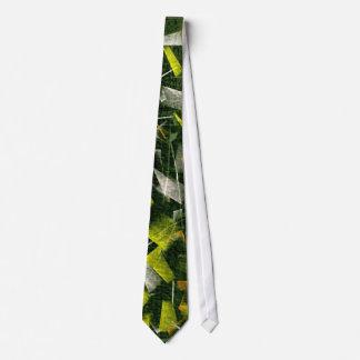 Aceite y acrílico abstractos que pintan 2 corbata personalizada