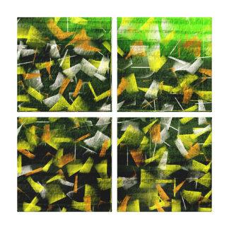 Aceite y acrílico abstractos que pintan 2 impresión en lienzo
