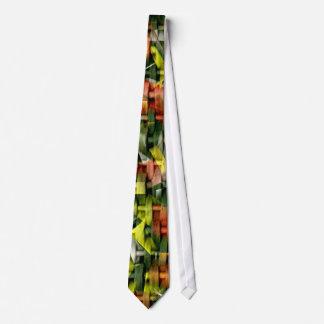 Aceite y acrílico abstractos que pintan 4 corbata