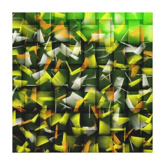 Aceite y acrílico abstractos que pintan 4 impresión en lienzo
