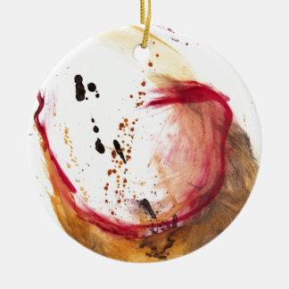 Aceite y agua #42 adorno redondo de cerámica