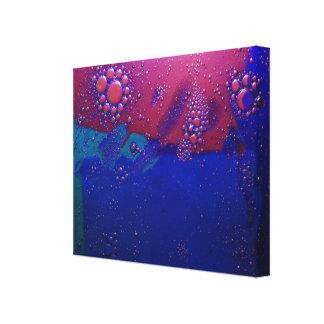aceite y agua, púrpura y azul impresion de lienzo