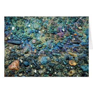 Aceite y piedra tarjeta pequeña