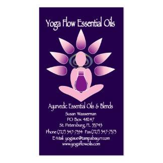 Aceites esenciales del flujo de la yoga tarjeta de visita