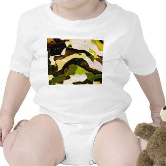 Aceituna 1 del camuflaje traje de bebé