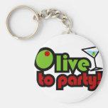 ¡Aceituna a ir de fiesta! Llavero Personalizado