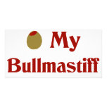 Aceituna (amor de I) mi Bullmastiff Tarjeta Personal Con Foto