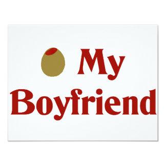 """Aceituna (amor de I) mi novio Invitación 4.25"""" X 5.5"""""""