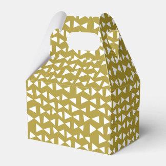 Aceituna del amarillo de la mostaza del triángulo cajas para regalos