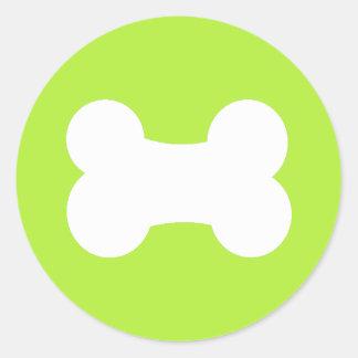 Aceituna del hueso de pequeño perro 3 pulgadas pegatinas redondas