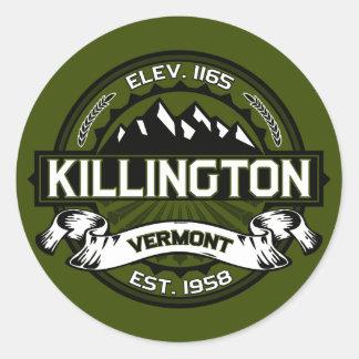 Aceituna del logotipo de Killington Pegatina Redonda