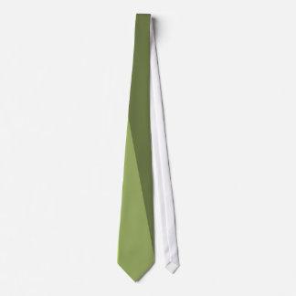 Aceituna, lazo rayado retro verde oscuro corbata