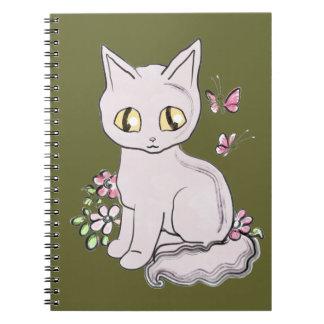 Aceituna oscura BG del gato fresco del gatito Cuaderno