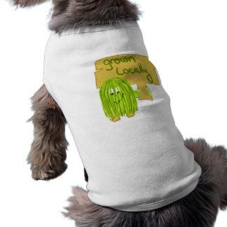 Aceituna producida localmente playera sin mangas para perro
