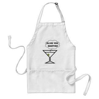 Aceituna usted Martini Delantal