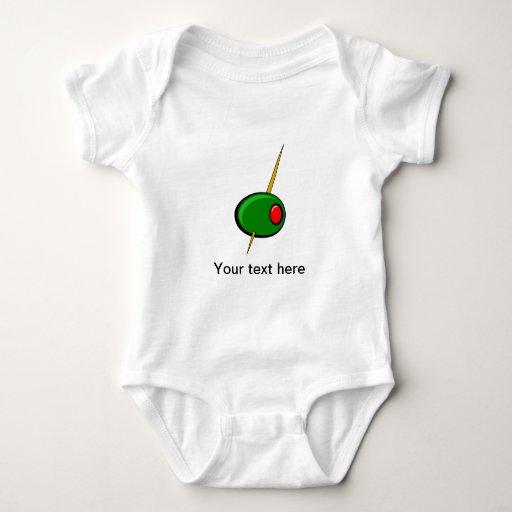 Aceituna verde con el pimiento morrón rojo mameluco de bebé