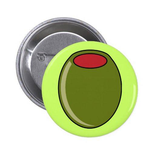 Aceituna verde pin redondo de 2 pulgadas