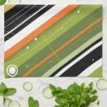 Aceituna y rayas Moderno-Retras anaranjadas con el Toallas De Mano
