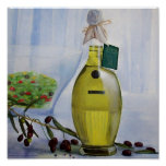 Aceitunas y aceite poster