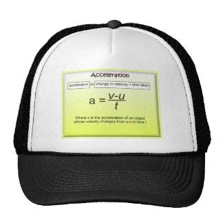 Aceleración, matemáticas, ciencia, la física gorras