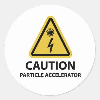 : Acelerador de partícula Pegatina Redonda
