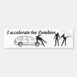 Acelero para los zombis pegatina para auto
