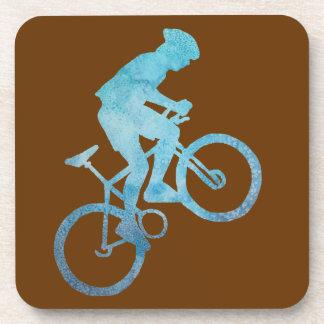 Acending Mountain Biker Beverage Coaster