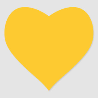 Acento ambarino amarillo de oro del color pegatina en forma de corazón