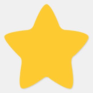 Acento ambarino amarillo de oro del color pegatina en forma de estrella